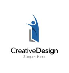 Book people education creative business logo vector