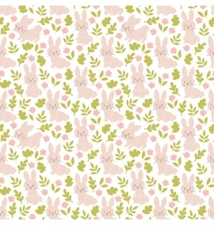Bunny seamless pattern vector