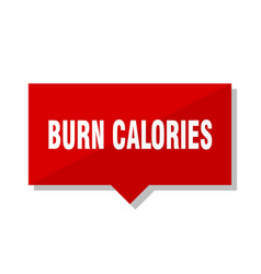 Burn calories red tag vector