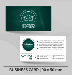 Teacher Business Card Vector Images Over - Teacher business card template