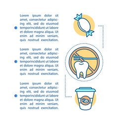 Caries causes article page template vector