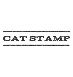 Cat stamp watermark stamp vector