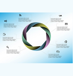 circle divided to eight parts filled color vector image