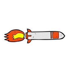 Comic cartoon missile vector