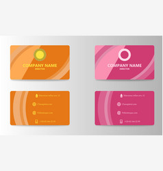 Creative and clean corporate business card vector