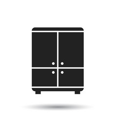 Cupboard icon on white background modern flat vector