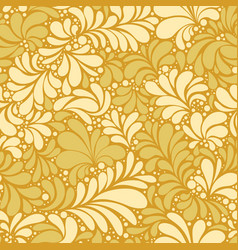 Damask teardrop gold ornament seamless pattern vector