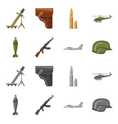 Design of weapon and gun sign collection vector