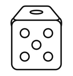dice cube icon outline style vector image