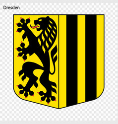 Emblem of dresden vector