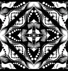 Ethnic style psychedelic abstract seamless vector