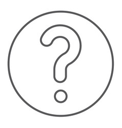 faq thin line icon question and help ask sign vector image