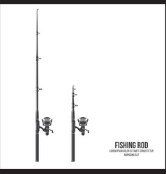 fishing rod isolated on the white background vector image