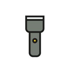 flashlight icon on white background vector image