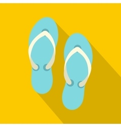 Flip flop sandals icon flat style vector