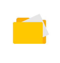 folder with files documents flat carton icon vector image