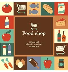 food shop frame vector image