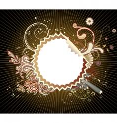 funky styled design frame vector image