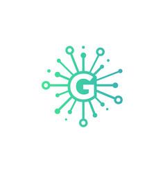 g share letter logo icon design vector image