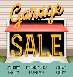 Garage Sale Poster vector image
