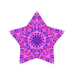 Geometrical colorful polygonal tiled mosaic star vector