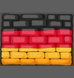 Germany flag on brickwall vector
