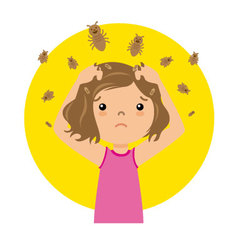 Girl with lice vector