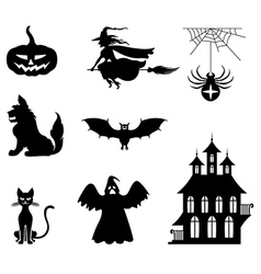 hallowen set vector image