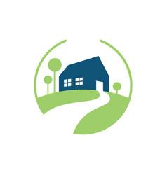 home garden logo vector image