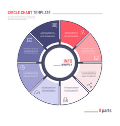 infographic circle chart template eight vector image