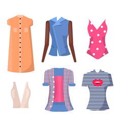 jackets and shirts set poster vector image