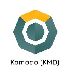 Komodo kmd crypto coin ico vector