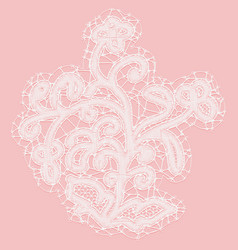 Lacy flower with openwork leaves decorative vector