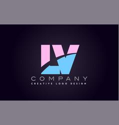 Lv alphabet letter join joined letter logo design vector