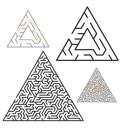 maze labyrinth in flat style vector image
