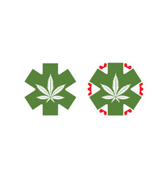 medical-marijuana-logo vector image