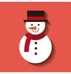 merry christmas snowman character icon vector image
