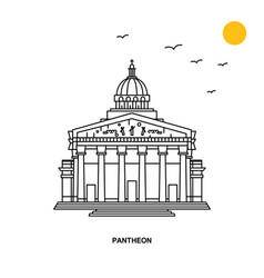 Pantheon monument world travel natural background vector