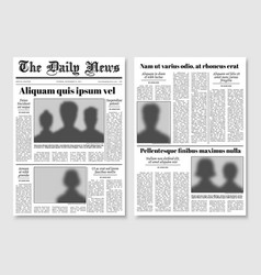 Paper tabloid newspaper layout editorial vector