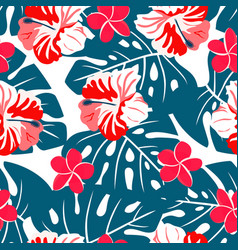 pattern tropical mix vector image