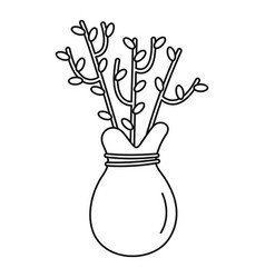 plant seed icon outline style vector image