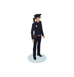 police officer woman icon vector image