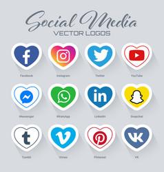 Popular social media logos collection vector