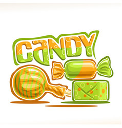 Poster for candy vector