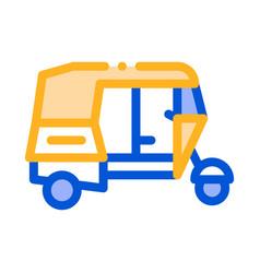 public transport rickshaw thin line icon vector image