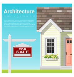 Real estate investment background house for sale vector