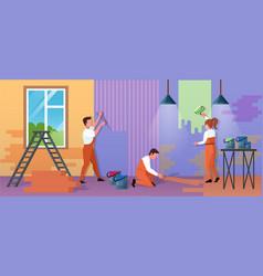 repair home service cartoon vector image