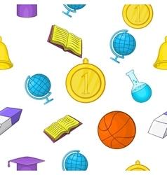 School pattern cartoon style vector
