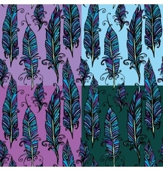Seamless pattern with ornamental Feather tribal vector image