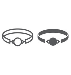 Sex gag line and glyph icon toy and adult vector